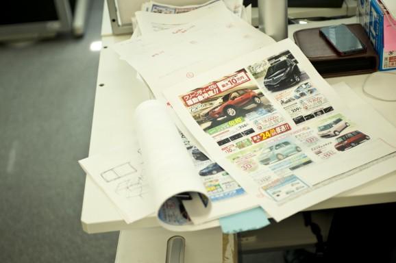 行田さんの机まわり