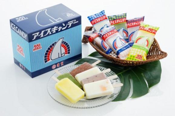 (551蓬莱の夏の主役アイスキャンディー。なんと年間売上本数850万本!)